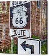 Route 66 - Kansas #1 Acrylic Print