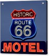 Route 66 Motel Acrylic Print