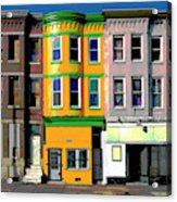 Row Houses Baltimore Acrylic Print