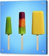 Row Of Different Types Of Ice Cream Acrylic Print
