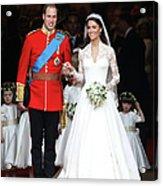 Royal Wedding - Carriage Procession To Acrylic Print