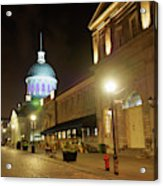 Rue Saint Paul In Old Montreal At Night Acrylic Print