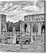Ruins Of A Cathedral, Elgin Cathedral Acrylic Print