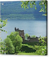 ruins of castle Urquhart on loch Ness Acrylic Print