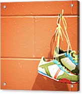Runnig Shoes Hanging On A Hook Acrylic Print