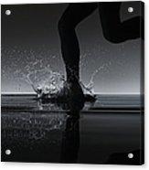 Running Through Water Acrylic Print
