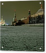 Russia, Moscow, Red Square And Kremlin Acrylic Print