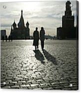 Russia, Moscow, Red Square, Silhouette Acrylic Print