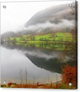 Rydal Water On A Misty Day In December Acrylic Print