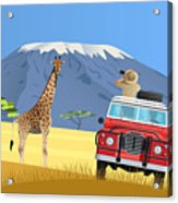 Safari Truck In African Savannah Acrylic Print