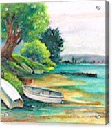 Safe Mooring-whangamata Harbour. Acrylic Print