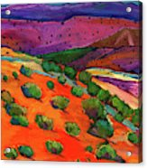 Sage Slopes Acrylic Print