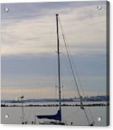 Sailboat In The Bay Area Acrylic Print