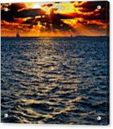 Sailboat Sunburst Acrylic Print