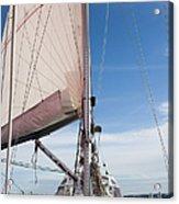 Sailing Boat In Sea Acrylic Print