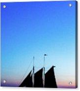 Sailing Into Sunset Acrylic Print
