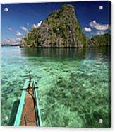 Sailing Over Coral Coron Acrylic Print