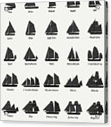 Sailing Vessel Types And Rigs Acrylic Print