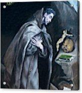 Saint Francis Kneeling In Meditation Acrylic Print