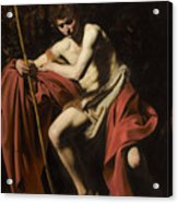 Saint John The Baptist In The Wilderness             Acrylic Print