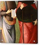 Saint John The Evangelist And Saint Augustine Acrylic Print