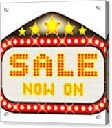 Sale Theatre Marquee Acrylic Print