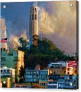 Salesforce Tower Coit Tower Transamerica Pyramid Acrylic Print
