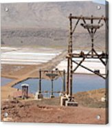 Salt Pans And 200 Yr Old Cable Car Winches Acrylic Print