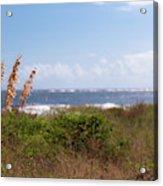 Salty Island Breeze Over Breach Inlet Acrylic Print