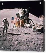 Salute The Moon Acrylic Print