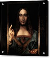Salvator Mundi After Leonardo Da Vinci Acrylic Print