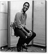 Sam Cooke In The Studio Acrylic Print