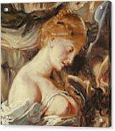 Samson And Delilah, Detail Of Delilah Acrylic Print