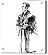 Samurai Poster Bushido Japanese Art Samurai Warrior Japanese Sword Acrylic Print