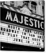 San Antonio Majestic Theatre Acrylic Print