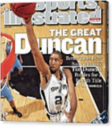 San Antonio Spurs Tim Duncan, 2007 Nba Western Conference Sports Illustrated Cover Acrylic Print