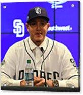 San Diego Padres Introduce Manny Machado Acrylic Print