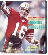 San Francisco 49ers Qb Joe Montana... Sports Illustrated Cover Acrylic Print