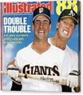 San Francisco Giants Will Clark And Oakland Athletics Mark Sports Illustrated Cover Acrylic Print