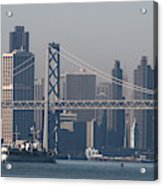 San Francisco Past The Bay Bridge Acrylic Print