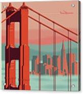 San Francisco Poster - Vintage Travel Acrylic Print
