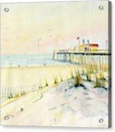 Sand Dunes At Ocean City Beach Maryland Acrylic Print