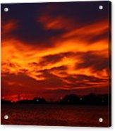 Fire In The Sandusky Sky Acrylic Print