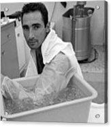 Sandy Koufax Soaking His Elbow In Ice Acrylic Print