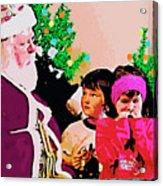Santa And The Kids Acrylic Print