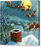 Santa Claus And His Sleigh Acrylic Print