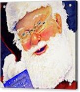 Santa Knows Acrylic Print