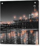Santa Monica Glow By Mike-hope Acrylic Print