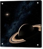 Saturn Planet In Solar System, Close-up Acrylic Print