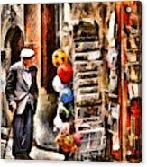 Scanno, Strada Abrami Acrylic Print